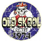 Distressed Aged OLD SKOOL SINCE 1974 Mod Target Dated Design Vinyl Car sticker decal  80x80mm